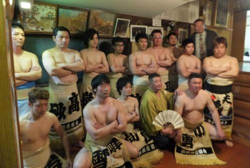 相撲甚句後の記念撮影