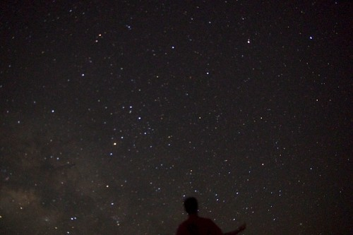 満天の星空に抱かれて