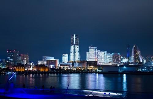 大桟橋からみなとみらいの夜景