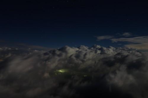 雲の中の街