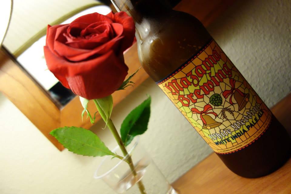 薔薇とビール