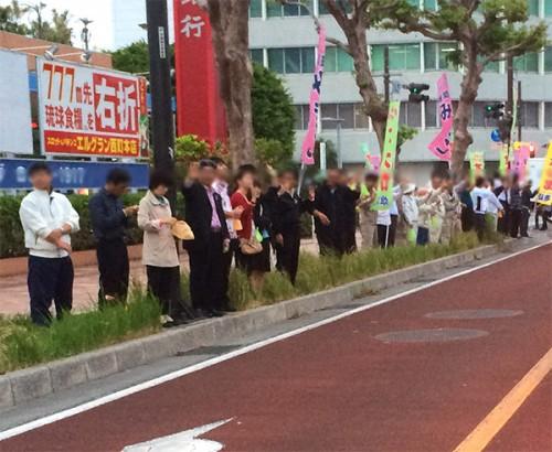 沿道の人々