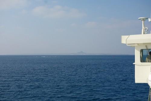 伊江島タッチューが見えてきた。