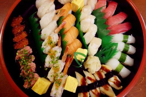 上からお寿司