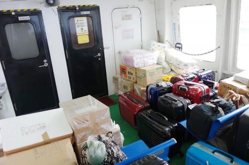 大量の荷物
