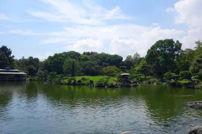 清澄庭園 池