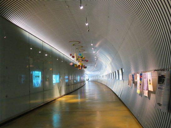 OIST 研究棟へのトンネル