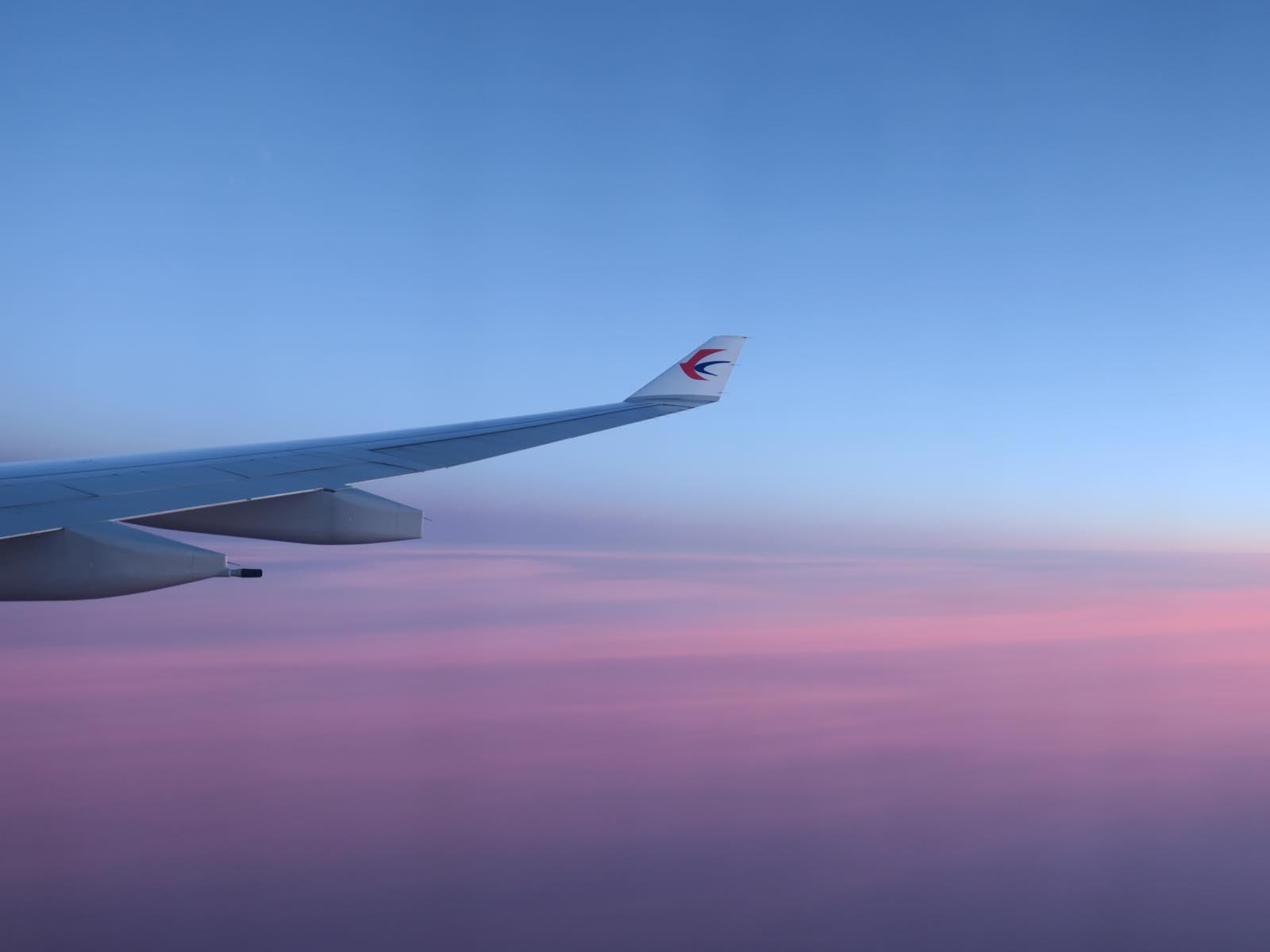 日の出前の空がきれい