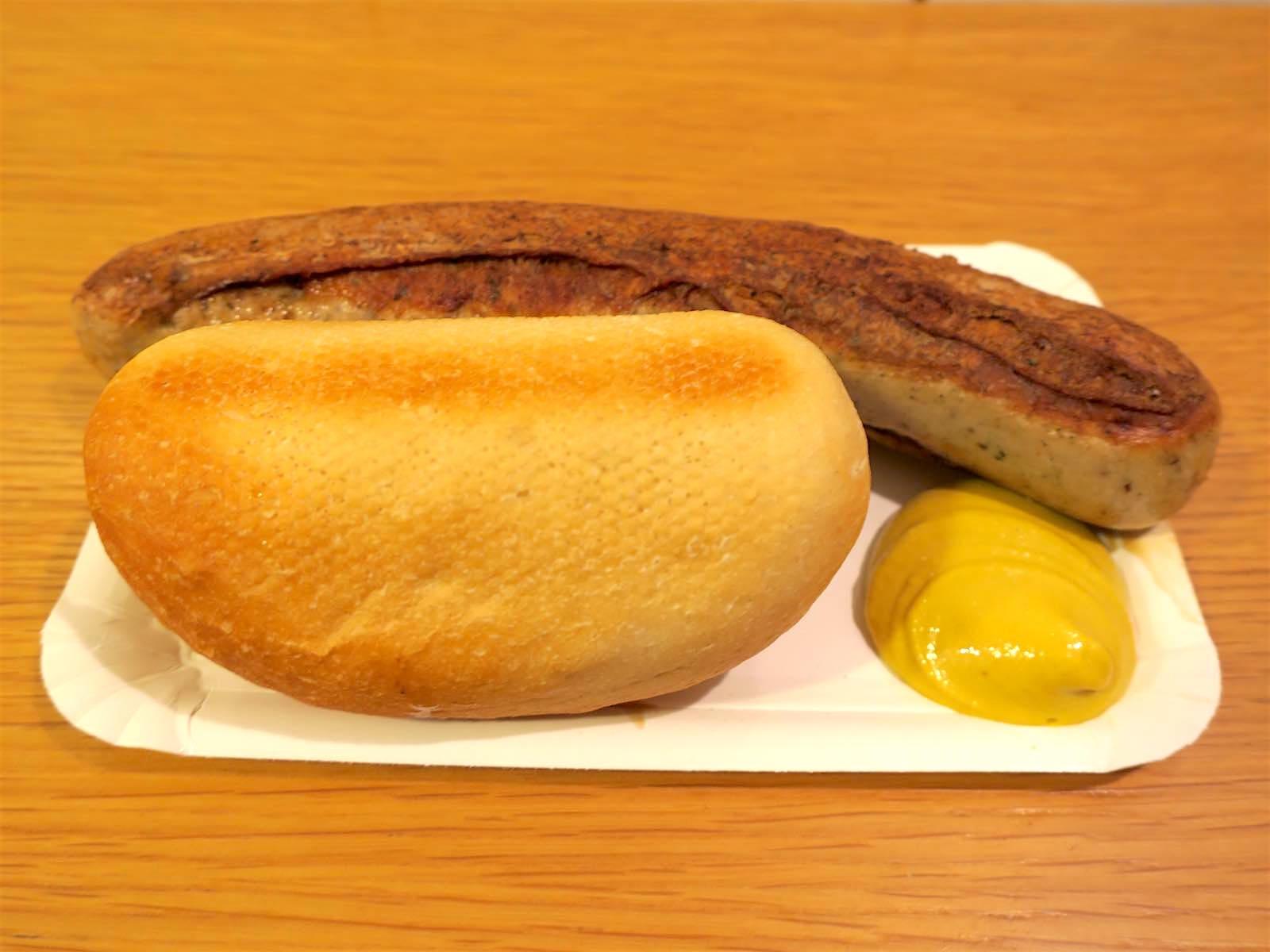 ソーセージとパン