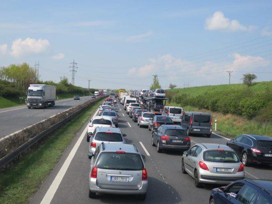 まさかの大渋滞