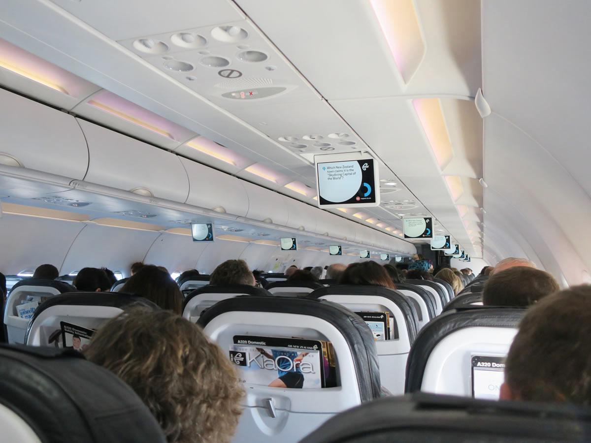 ニュージーランド航空機内