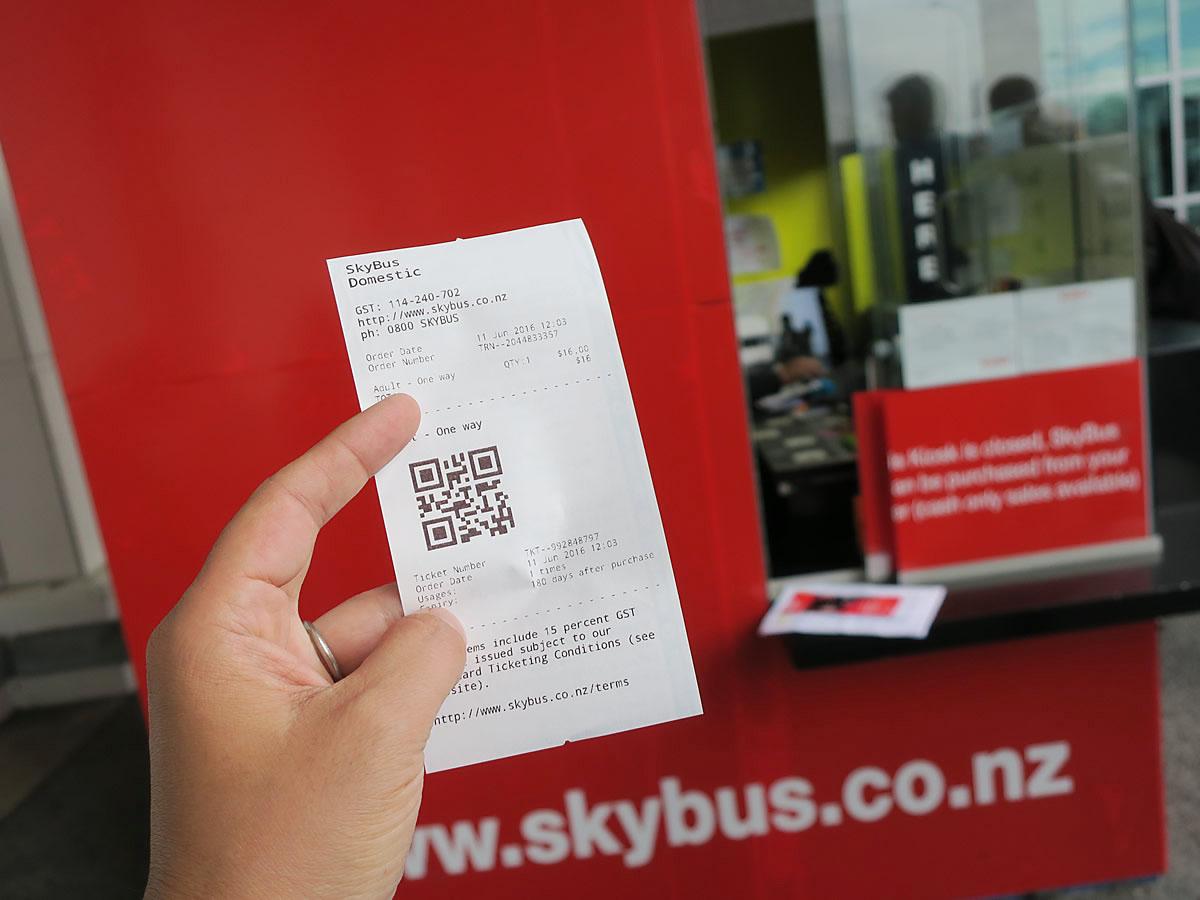 バスのチケットを購入