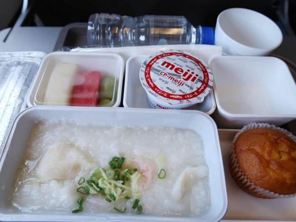 機内食のおかゆ