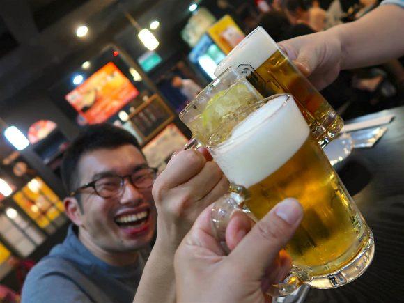 最後の乾杯!