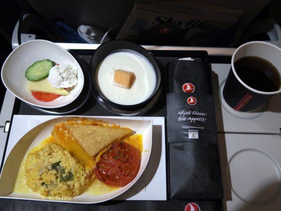 トルコ航空 機内食 モーニング