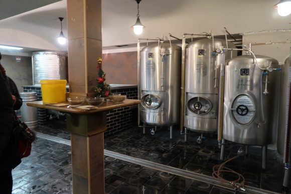 醸造設備見学
