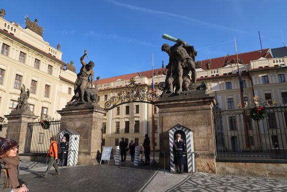 プラハ城裏門?