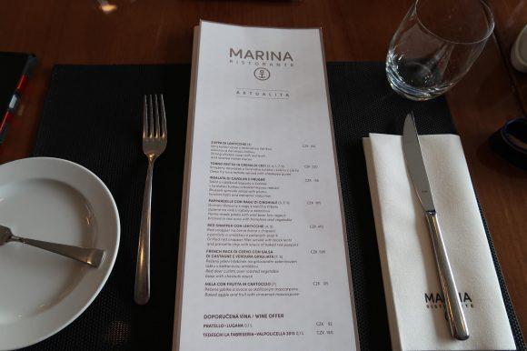 プラハ マリーナ リストランテ メニュー