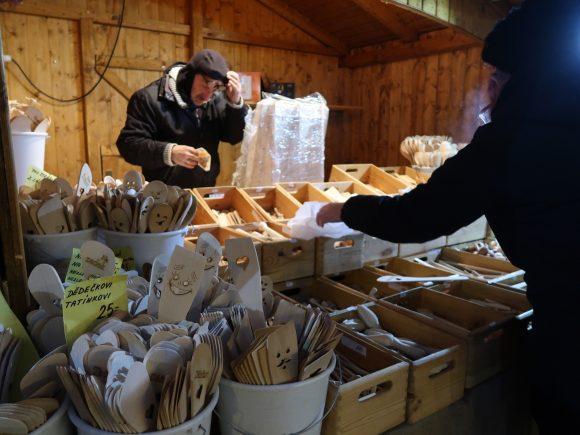 木のヘラのお店