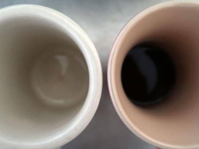 マグカップの違いが味の違いに…