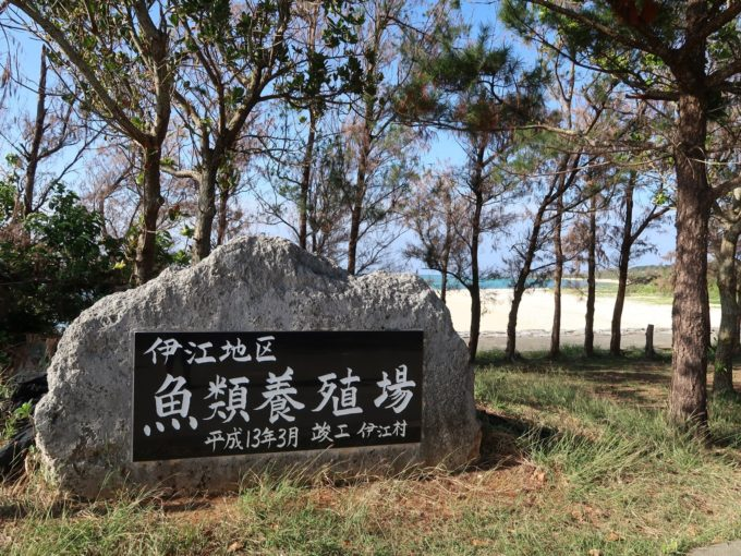伊江島の養殖場