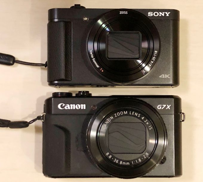 CANON G7X MarkII SONY HX99 比較