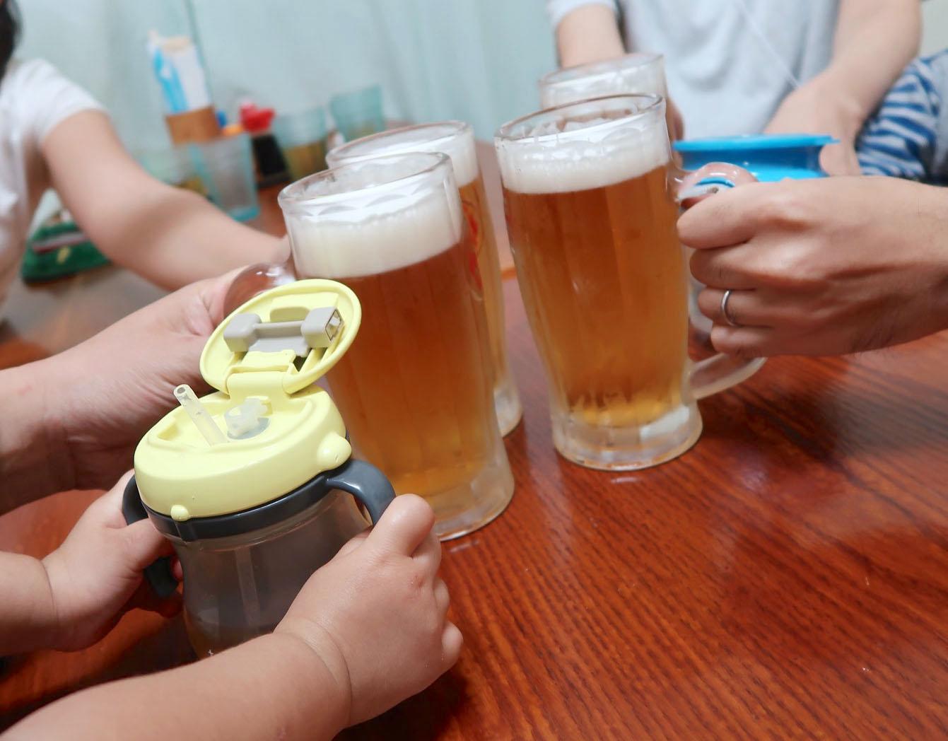 家族で乾杯