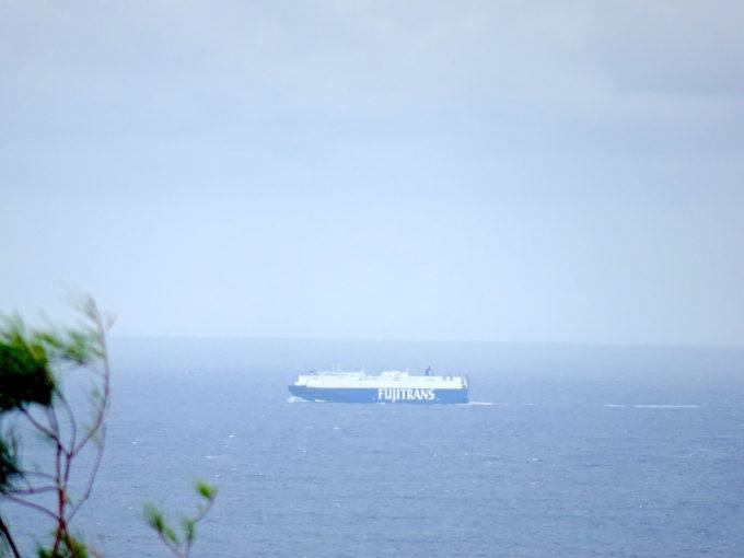 720mmで船に寄る
