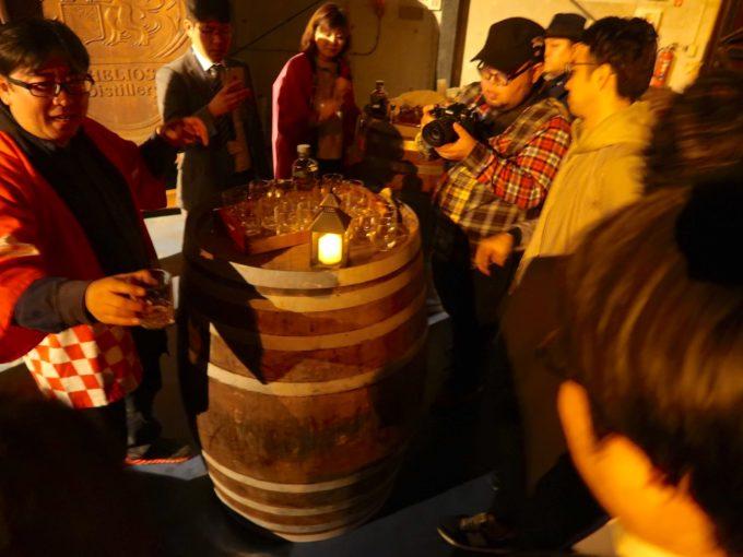 樽貯蔵原酒の試飲