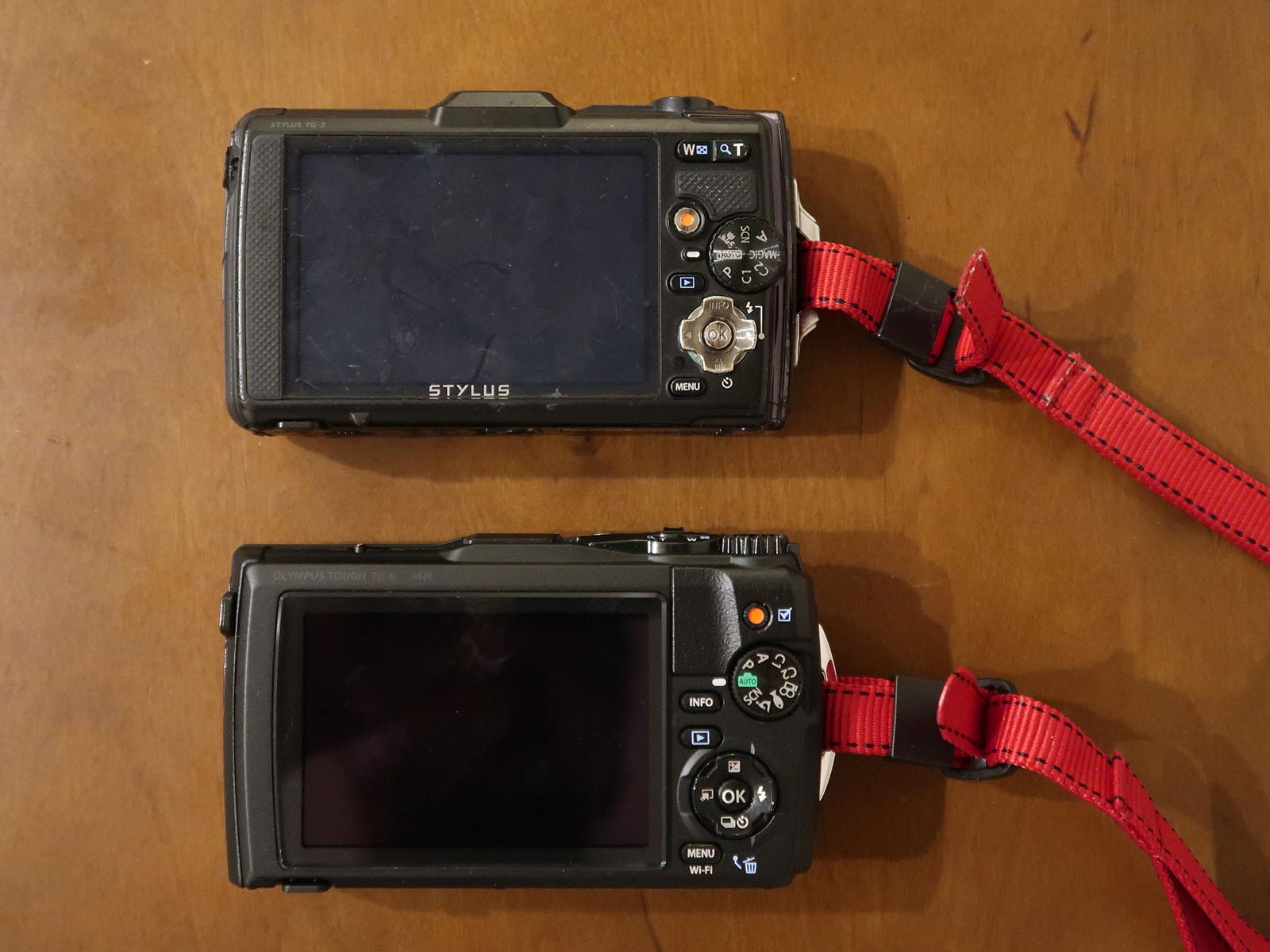 TG-2 TG-6 比較画像 背面