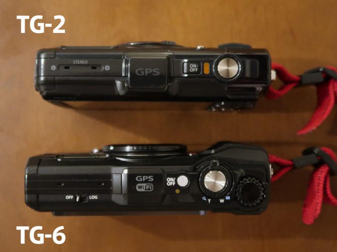 TG-2 TG-6 比較画像 上部