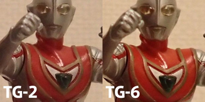 TG-2 TG-6 画像比較