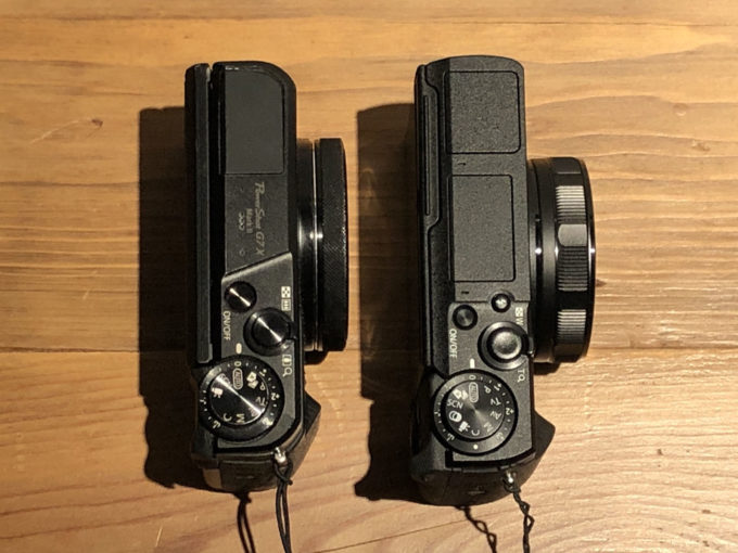 G7XMkII VS G5XMkII サイズ比較