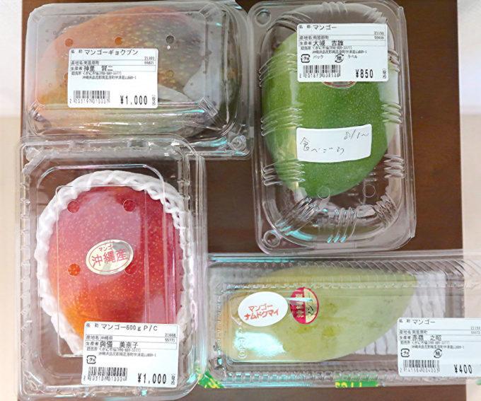 沖縄で買ったいろいろなマンゴー