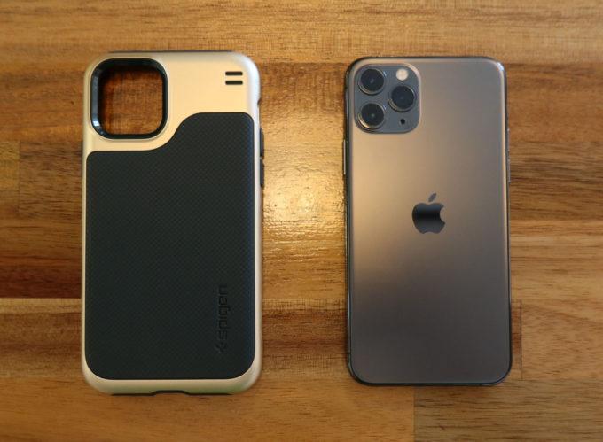 Spigen ハイブリッドNX と iPhone 11 Pro