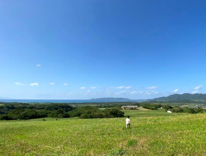海の見える草原